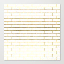 Gold Subway Tiles Canvas Print