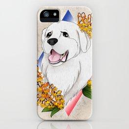 Great Pyrenees Pet Portrait iPhone Case