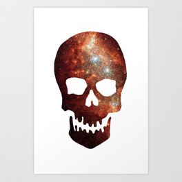 Gallexy Skull Art Print