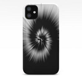 TIE DYE #1 (Black & White) iPhone Case