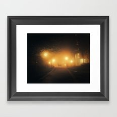 Unexpected visit Framed Art Print
