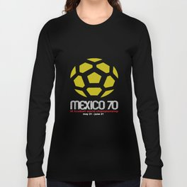 Mexico 70 Classic Football World Cup Mens Retro Distress Style T65 Mexico T-Shirts Long Sleeve T-shirt