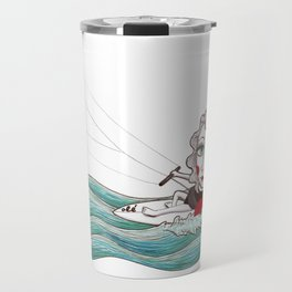 Kite surfer girl Travel Mug