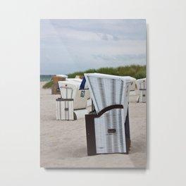 beach chairs on the baltic sea Metal Print