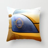 transformer Throw Pillows featuring The Eye Of A Transformer by VHS Photography