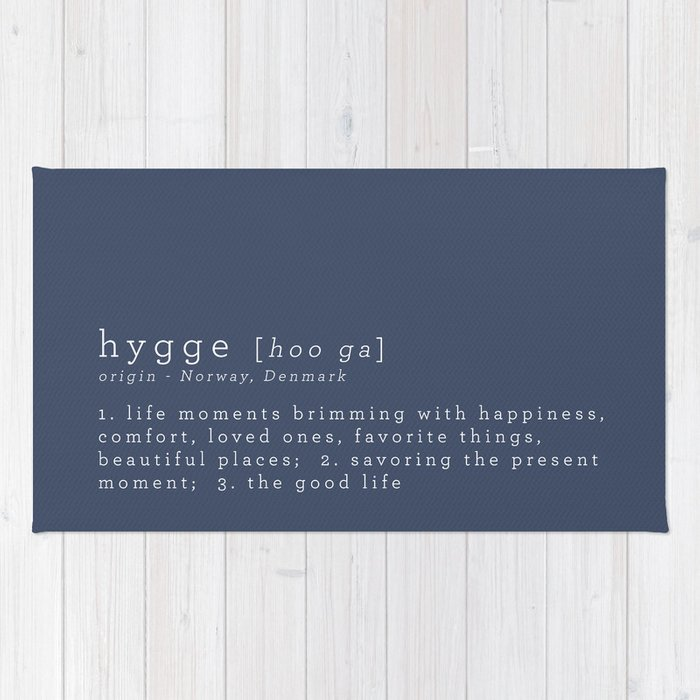 THE MEANING OF HYGGE Rug