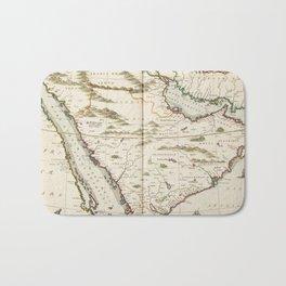 Vintage Map of Saudi Arabia (1662) Bath Mat