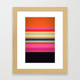 Sunset Stripes Framed Art Print