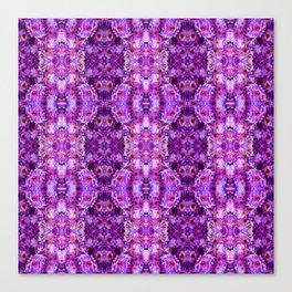 Violet Purple White Flower Pattern Canvas Print