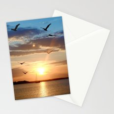 birds over the horizon Stationery Cards