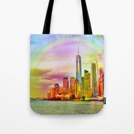 Rainbow New York Tote Bag