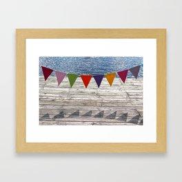 summer banner Framed Art Print