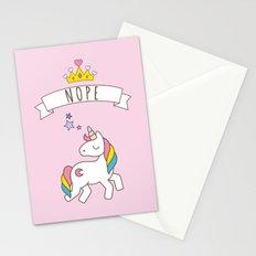 Nope Unicorn Stationery Cards