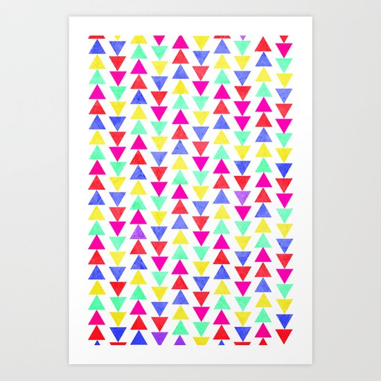 summer triangles Art Print