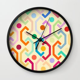 Ethnic Pattern (by day) Wall Clock