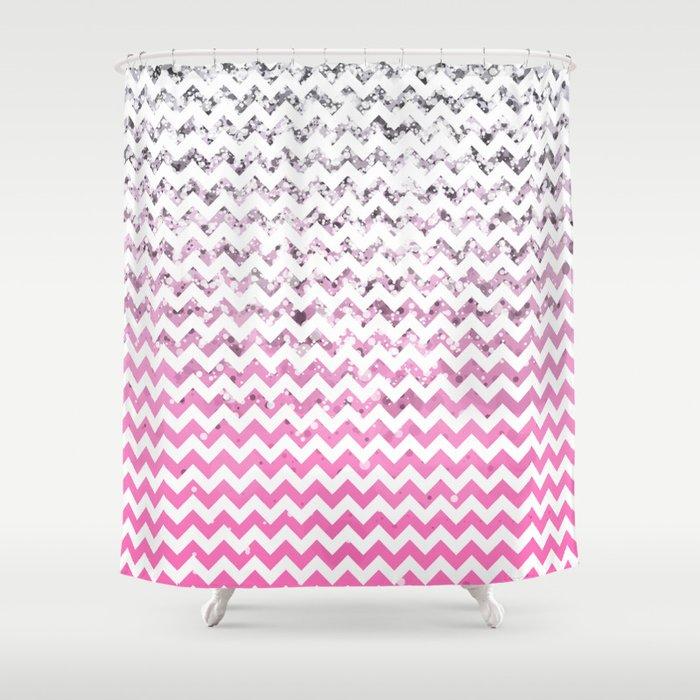 Glitter Chevron Variations V Shower Curtain