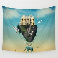 volkswagen Wall Tapestries featuring the elephant  by mark ashkenazi