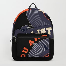 Music Vinyl Record T-shirt Gift Backpack