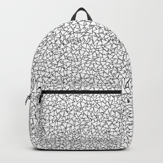 Black and White Triangles Dizzy All-Over Pattern Backpack