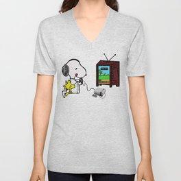 Game on Snoopy Unisex V-Neck