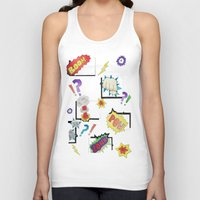 comic book Tank Tops featuring Comic Book by michaelrosen