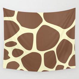 Animal Print (Giraffe Pattern) - Brown Yellow Wall Tapestry