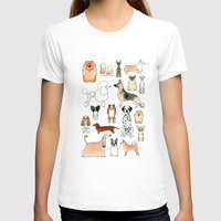 dogs T-shirts featuring Dogs by Rebecca Bennett