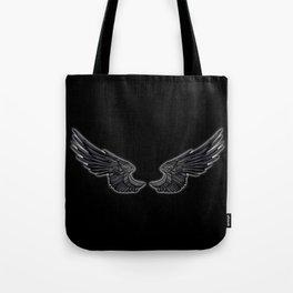 Black Angel Wings Tote Bag