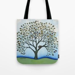 Cairo Whimsical Cat in Tree Tote Bag