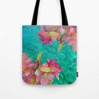 lily Tote Bags featuring Lily  by Saundra Myles
