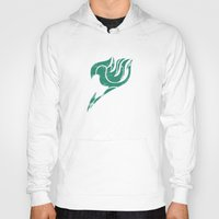 fairy tail Hoodies featuring Fairy Tail Segmented Logo Happy by JoshBeck