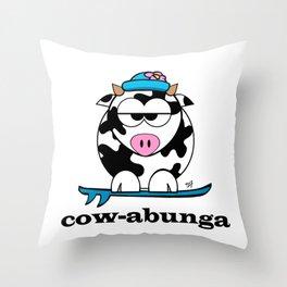 cowabunga Throw Pillow