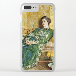 Childe Hassam - April (The Green Gown) Clear iPhone Case