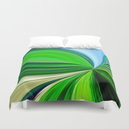 How Green Is My Valley Duvet Cover