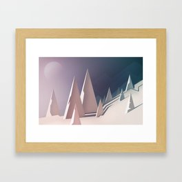 Winter trees landscape Framed Art Print