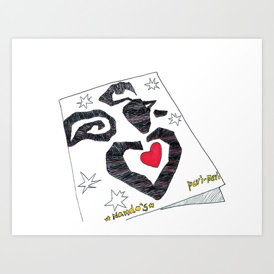 Nando's Matisse in London Art Print