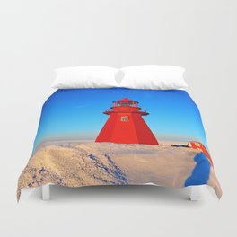 Lighthouse  and Frozen Sea Duvet Cover
