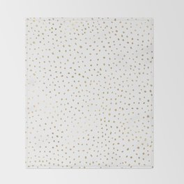 Dotted Gold Throw Blanket