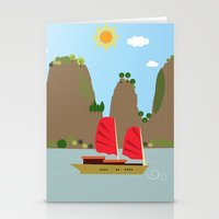 vietnam Stationery Cards featuring Vietnam View by Design4u Studio