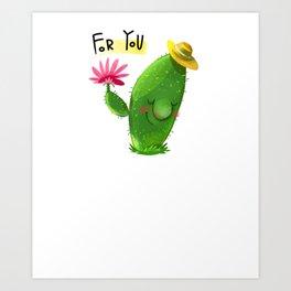 Cute Cactus For You Cacti Cactus Watercolor Plant Lover Art Print