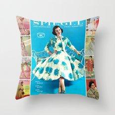 1958 Spring/Summer Spiegel Catalog Throw Pillow
