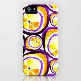 Sweet Plum Lemon iPhone Case