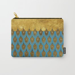 Blue and Gold Mermaid Scales Dreams Carry-All Pouch