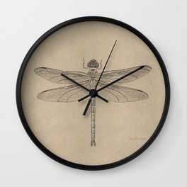 Dragonfly Fossil Dos Wall Clock