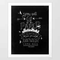 paper towns Art Prints featuring Paper Towns by karifree