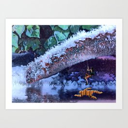 Escaping the Freeze. Art Print