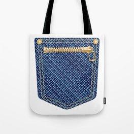 Zipper Pocket Tote Bag