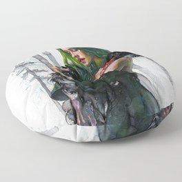 Black Swan Feelings Floor Pillow
