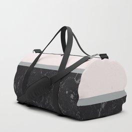 Grey Black Marble Meets Romantic Pink #1 #decor #art #society6 Duffle Bag