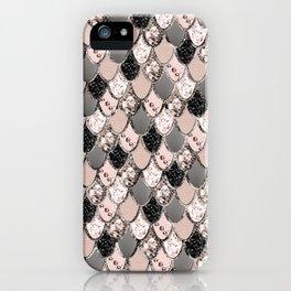 Rose Gold Blush Mermaid Princess Glitter Scales #1 #shiny #decor #art #society6 iPhone Case